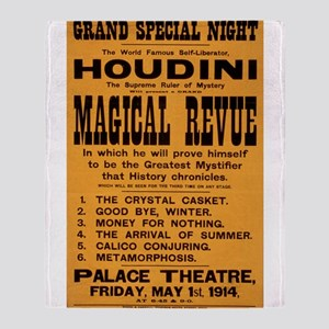 Houdini Magical Revue Throw Blanket
