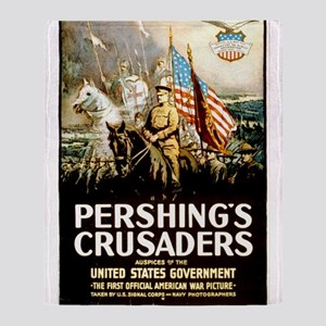 Pershing's Crusaders Throw Blanket