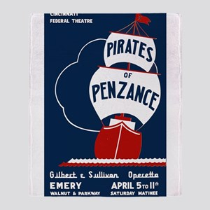 Pirates of Penzance Throw Blanket