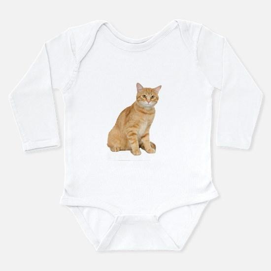 Yellow Cat Long Sleeve Infant Bodysuit