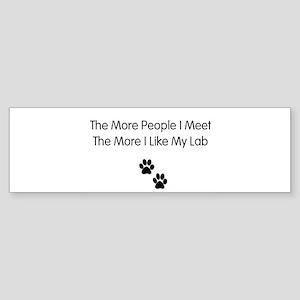 lab luv Sticker (Bumper)
