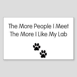 lab luv Sticker (Rectangle)