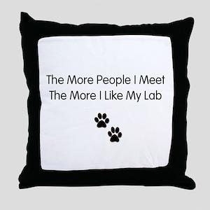 lab luv Throw Pillow
