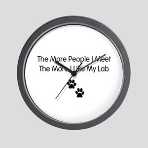 lab luv Wall Clock