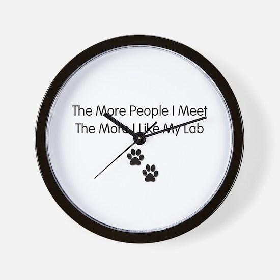 lab luv Wall Clock