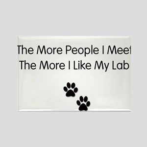 lab luv Rectangle Magnet