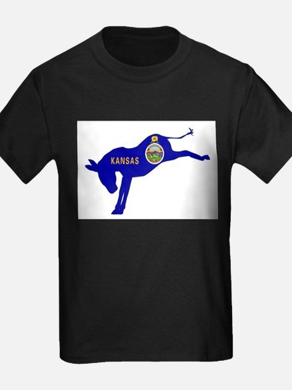 Kansas Democrat Donkey Flag T-Shirt