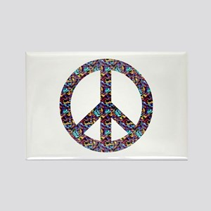 Groovy Peace Symbol Rectangle Magnet