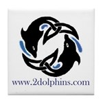 2Dolphins Ceramic Tile Coaster