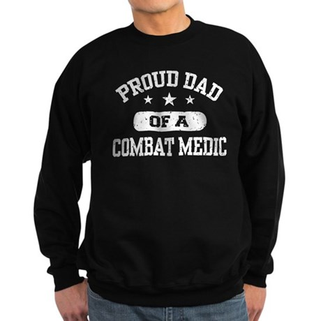 Proud Combat Medic Dad Sweatshirt (dark)