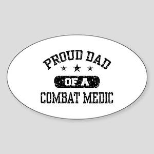 Proud Combat Medic Dad Sticker (Oval)