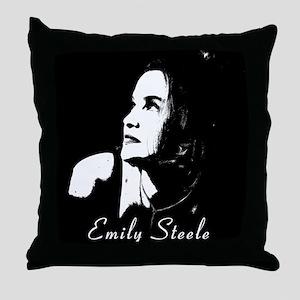Emily Steele Logo Throw Pillow