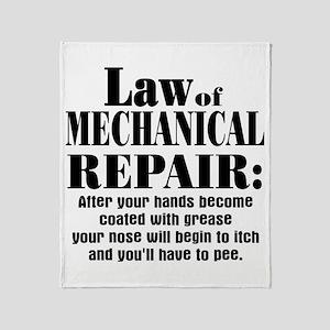 Law of Mechanical Repair: Throw Blanket