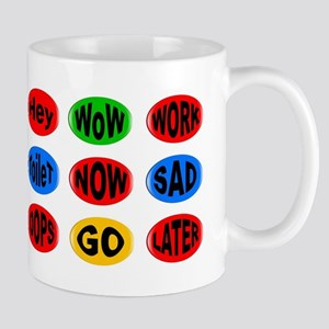 Oval Button Funny Mugs