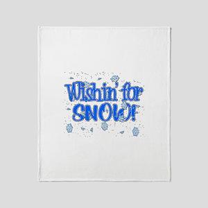 Wishin' For Snow Throw Blanket
