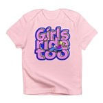 Girls Ride Too Infant T-Shirt