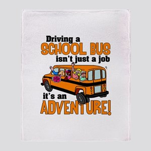 Driving a School Bus Throw Blanket