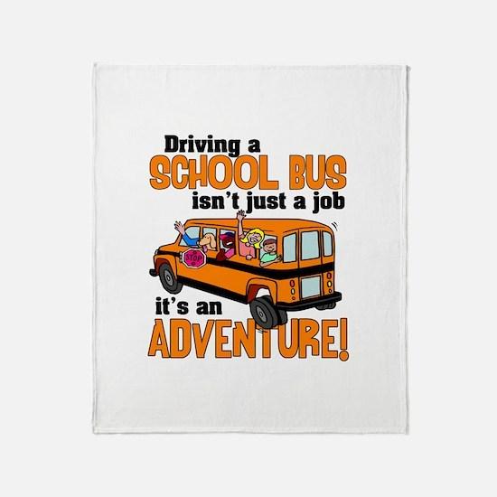Driving a School Bus Throw Blanket