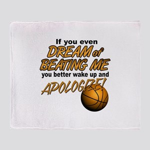 Basketball Dreaming Throw Blanket