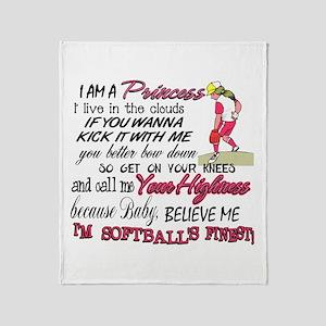 Softball's Finest Throw Blanket