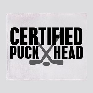 Certified Puck Head Throw Blanket