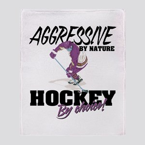 Hockey by Choice Throw Blanket