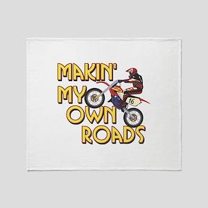 Own Roads - Dirt Bike Throw Blanket