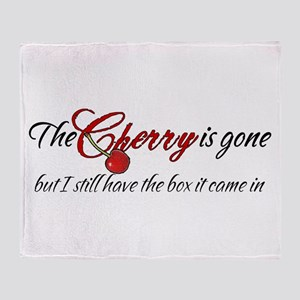 The Cherry is Gone Throw Blanket