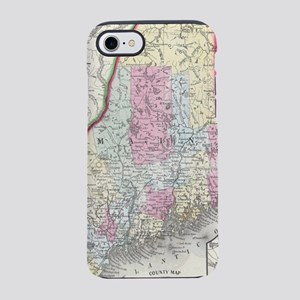 Vintage Map of Maine (1864) iPhone 7 Tough Case