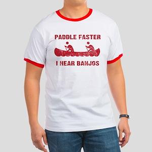 Paddle Faster Vintage Ringer T