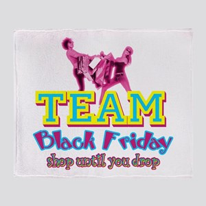 Team Black Friday Throw Blanket