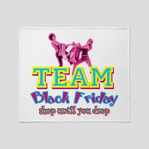 Team Black Friday Throw Blanket