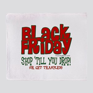 Black Friday Shop 'Till You Drop Throw Blanket