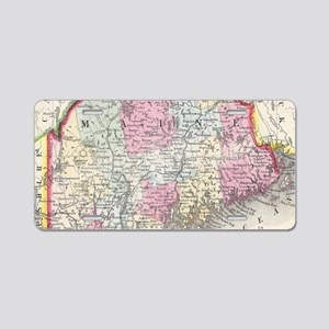 Vintage Map of Maine (1864) Aluminum License Plate