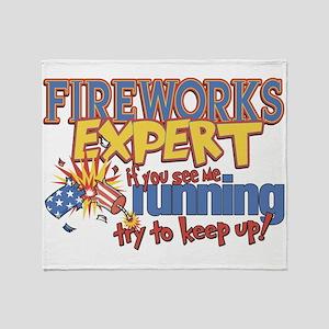 Fireworks Expert Throw Blanket