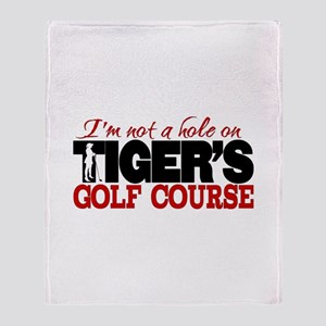 Tiger's Golf Course Throw Blanket