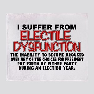 Electile Dysfunction Throw Blanket