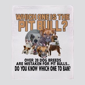 Find the Pit Bull Throw Blanket