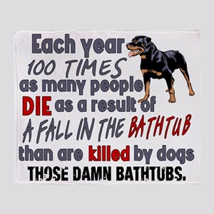 Killer Bathtubs Throw Blanket