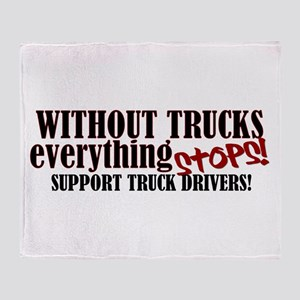 Trucker Support Throw Blanket