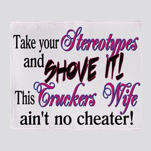 Ain't No Cheater Throw Blanket