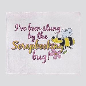 Scrapbooking Bug Throw Blanket