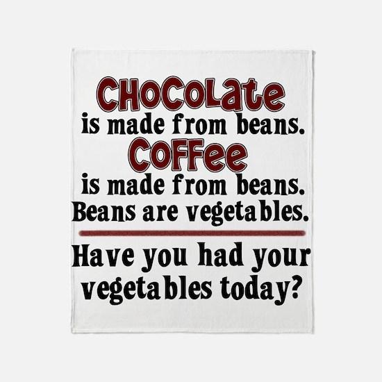 Chocolate & Coffee Throw Blanket