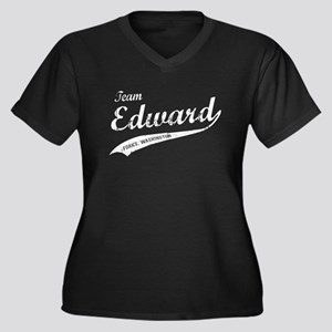 Twilight Team Edward Vintage Women's Plus Size V-N