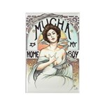 Mucha Is My Home Boy Rectangle Magnet