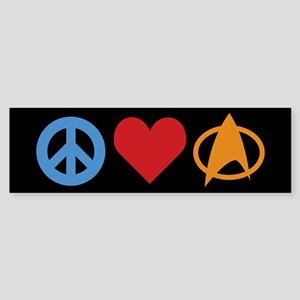 Peace Love Star Trek Sticker (Bumper)
