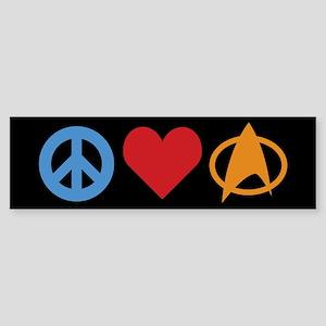 Peace Love Star Trek Sticker Per