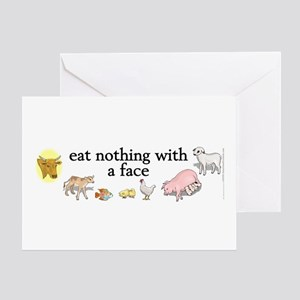 eat nothing with a face Greeting Card