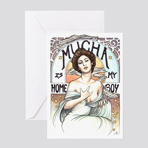 Mucha is my Homeboy Greeting Card
