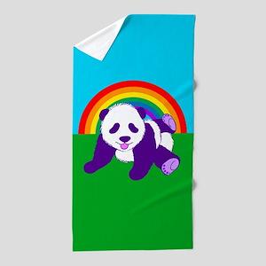 Purple Panda Beach Towel